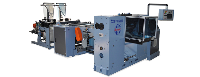 OZM 700 ROLL GARBAGE BAG CUTTING MACHINE